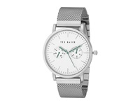 Ted Baker Smart Casual Collection Custom Multifunction Sub Eye W Contrast Detail Date Mesh Bracelet Watch Silver Watches