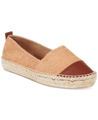 Kenneth Cole Reaction Espa Zee Espadrille Flats Women's Shoes Gold Luggage