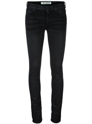 Off White Skinny Jeans Black