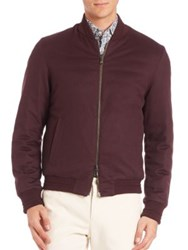 Etro Wool And Cashmere Blend Reversible Bomber Jacket Red