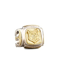 Myrmidones Men's Etched Shield Ring Konstantino
