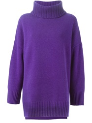 Polo Ralph Lauren Roll Neck Sweater Pink And Purple