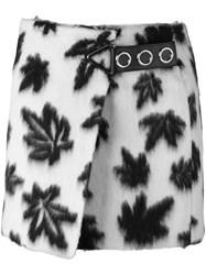 Alexander Wang Leaf Motif Wrap Mini Skirt White
