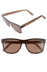 Women's Bobbi Brown 'The Zach' 56Mm Retro Sunglasses Brown Havana Honey
