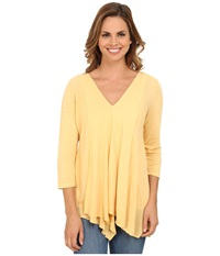 Miraclebody Jeans Alyse Asymmetrical Top W Body Shaping Inner Shell Chamois Bge Women's Long Sleeve Pullover Yellow