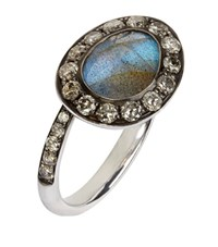 Annoushka Dusty Diamonds Labradorite Side Ring Female