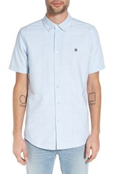 Obey Men's 'Eighty Nine' Trim Fit Patch Jacquard Short Sleeve Woven Shirt