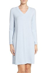 Hanro Women's Long Sleeve Knit Nightgown