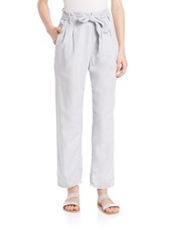 Set Belted High Waist Chino Pants Pearl Blue