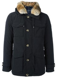 Hetrego Button Down Hooded Jacket Black