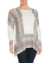 Chelsea And Theodore Plus Roundneck Long Sleeve Top White