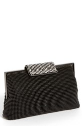 Whiting And Davis Crystal Frame Clutch Black