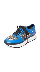 Kenzo Flying Tiger Jogger Sneakers Cobalt