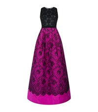 Andrew Gn Lace And Embroidered Sleeveless Gown Female Pink