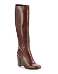 Kate Spade Baina Knee High Leather Riding Boots Brown