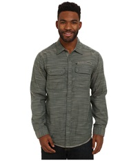 Exofficio Tivoli Chambray Long Sleeve Top Ponderosa Men's Long Sleeve Button Up Green