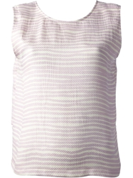 Kenzo Striped Sleeveless Top Pink And Purple