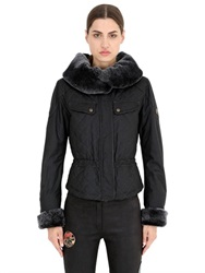 Matchless London Windsor Quilted Waxed Cotton Down Jacket