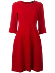 Twin Set Ribbed Detailing Flared Dress