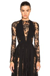Zuhair Murad Lace Bodysuit In Black
