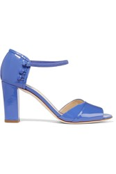 Moschino Patent Leather Sandals Blue