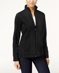 Styleandco. Style Co. Petite Fleece Quilted Jacket Only At Macy's Deep Black