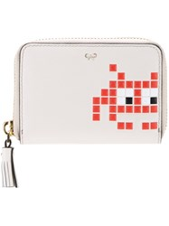 Anya Hindmarch 'Space Invaders' Wallet White