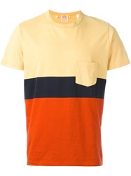 Levi's Vintage Clothing Colour Block Pocket T Shirt Yellow And Orange