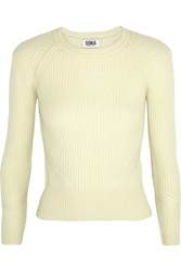Sonia Rykiel Cropped Ribbed Wool And Cashmere Blend Sweater