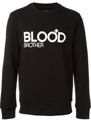 Blood Brother Logo Print Sweatshirt Black