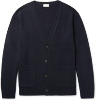 Dries Van Noten Drie Merino Wool And Cahmere Blend Cardigan Midnight Blue