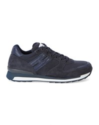 Hogan Rebel Navy Dual Fabric Sneakers Blue