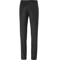 Jil Sander Slim Fit Wool And Cashmere Blend Trousers Black