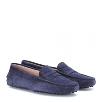 Tod's Gommini Suede Loafers Navy
