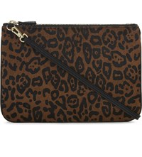Sandro Addict Haircalf Cross Body Bag Leopard