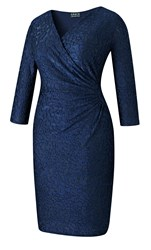 Grace Made In Britain Burnout Midi Navy