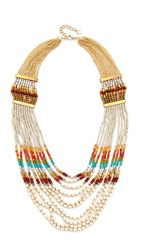 Nakamol Rachel Statement Necklace Rainbow Turquoise Multi