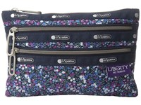 Le Sport Sac Classic 3 Zip Pouch Bell Berry Blue Wallet Multi