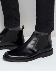 Selected Homme Royce Leather Chelsea Boots Black