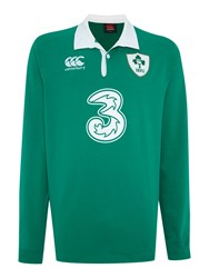 Canterbury Of New Zealand Ireland Home Classic Long Sleeve Rugby Shirt Green