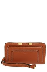Chloe Women's 'Marcie' Leather Phone Wristlet Brown Tan