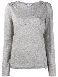 Frame Denim Long Sleeved T Shirt Grey