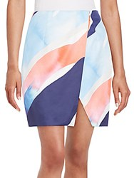 Finders Keepers Sweet Talker Watercolor Print Skirt Glacier