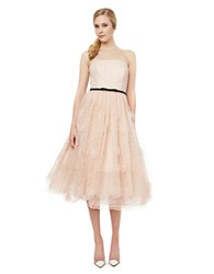Erin Fetherston Lucille Strapless Floret Gown Pale Pink