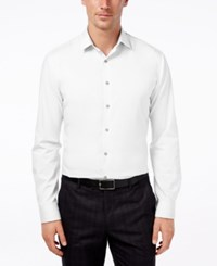 Alfani Red Men's Slim Fit Performance Solid Dress Shirt Only At Macy's White