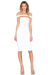Donna Mizani Strapped Midi Dress White