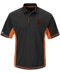Majestic Men's San Francisco Giants Top Of The Inning Polo Black