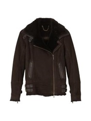 Barbour Carbon Shearling Jacket Dark Brown
