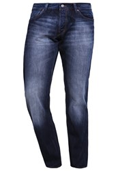 Esprit Edc By Straight Leg Jeans Blue Medium Wash Light Blue Denim