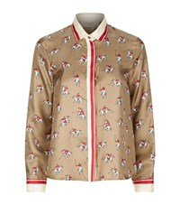 Max Mara Maxmara Weekend Horse Print Shirt Female Multi